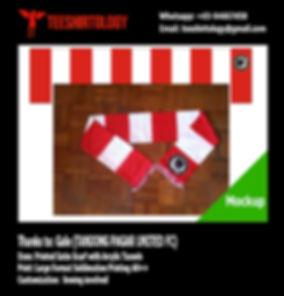 Tanjong Pagar United FC Printed Satin Scarf with Arcylic Tassels