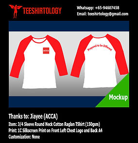 ACCA Silkscreen Printed Long Sleeve Cotton Raglan Shirt