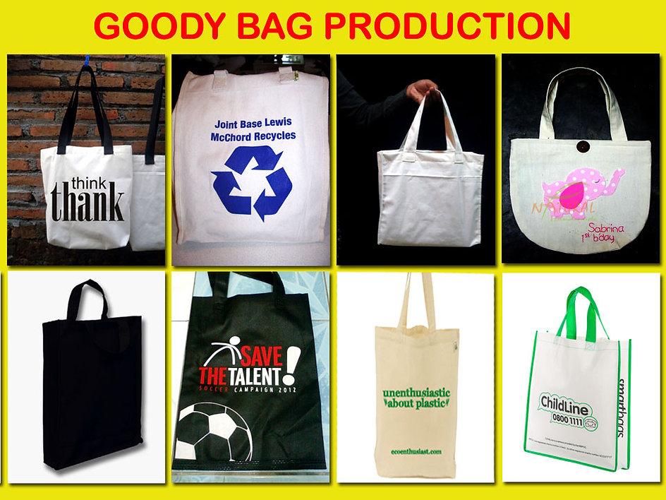 tote bag, goody bag, canvas bag, polypropylene bag, nonwoven bag