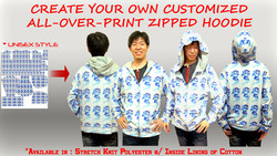 Sublimation Zipped Hoodie