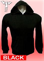 Digital Printing, Silkscreen Printing, Embroidery, Black Hoodie, Black Fleece Hoodie