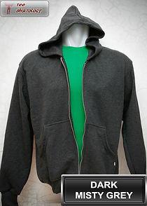 Dark Misty Grey Hooded Sweater, sweater hoodie abu misty tua half zipper