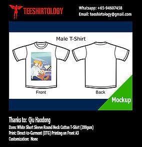 DTG A3 Print of Natsume Yuujinchou Anime White Cotton T-Shirt