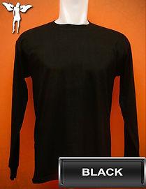 Long Sleeved Black t-shirt, kaos lengan panjang hitam