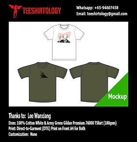 LKY Lee Kuan Yew White Cotton Gildan Premium 76000 Shirt DTG A4 Print