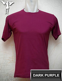 Dark Purple T-Shirt, kaos ungu tua, dark purple round neck t-shirt, dark purple crew neck t-shirt