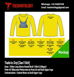 Minion Yellow Long Sleeve Cotton Shirt Screenprinting wih Custom Name