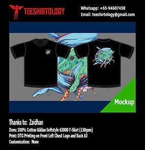 Octopus Black Cotton Gildan Softstyle 63000 Shirt DTG Printing