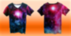 Dye sublimation v-neck unisex tee, all over print v-neck unisex tee, no minimum quantity
