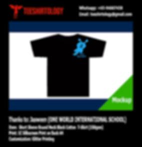OWIS One World International School T-Shirt Silkscreen Printing