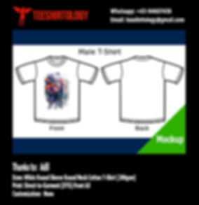 DTG Print of Superman White Cotton T-Shirt