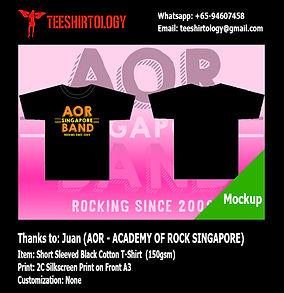 Academy of Rock Silkscreen Print of Black Cotton T-Shirt