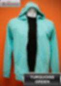 Turquoise Green Hooded Sweater, sweater hoodie hijau turkis