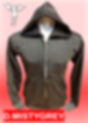 Digital Printing, Silkscreen Printing, Embroidery, Dark Misty Grey Zipped Hoodie, Dark Misty Grey Fleece Zipped Hoodie