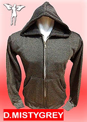 Digital Printing, Silkscreen Printing, Embroidery, Dark Misty Grey Zipped Hoodie, Dark Misty Grey Fleece Zipped Hoodie
