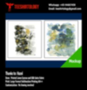 Silk Satin and Linen Canvas fabric printing