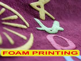 Puff Printing, Foam Printing, Sablon Foaming, sablon puff, silkscreen printing, manual print, t-shirt printing