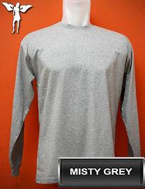 Long Sleeved Misty Grey t-shirt, kaos lengan panjang abu misty