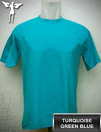 Turquoise Green T-Shirt, kaos hijau turkis, turquoise green blue round neck t-shirt, turquoise green blue crew neck t-shirt