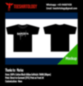 DTG A4 Print of Barista Black Cotton Gildan Softstyle 63000 T-Shirt