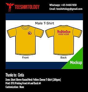 Restaurant Yellow Cotton T-Shirt DTG Printing