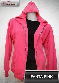 Fanta Pink Hooded Sweater, sweater hoodie pink fanta half zipper