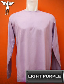 Long Sleeved Light Purple T-Shirt, kaos lengan panjang ungu muda