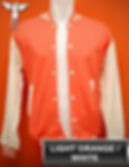 Light orange/White Varsity Jacket, baseball jacket, college jacket