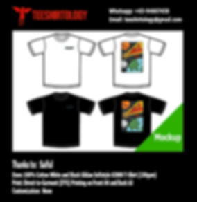 DTG Printing of White and Black Cotton Gildan Softstyle 63000 Shirts