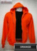 Orange Hooded Sweater, sweater hoodie orange half zipper