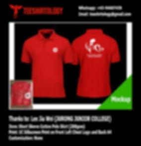 Jurong JC Choir Red Cotton Polo Shirt Silkscreen Printing