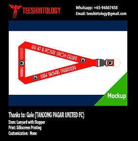 Tanjong Pagar United FC Silkscreen Printed Lanyard with Stopper