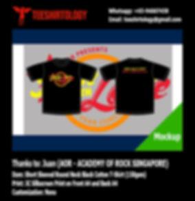AOR Jam with Love Concert Cotton T-Shirt Silkscreen Print