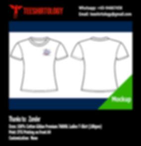 DTG Print of White Cotton Gildan Premium 76000L Ladie T-Shirt