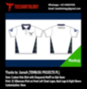 Tembusu Project Screenprinting of Custom Made White Honeycomb Cotton Polo Shirt
