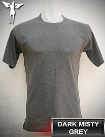 Dark Misty Grey t-shirt, kaos abu misty gelap, dark misty grey round neck t-shirt, dark misty grey crew neck t-shirt