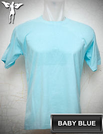 Baby Blue T-Shirt, kaos biru baby, baby blue round neck t-shirt, baby blue crew neck t-shirt