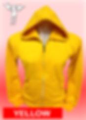Digital Printing, Silkscreen Printing, Embroidery, Yellow Zipped Hoodie, Yellow Fleece Zipped Hoodie