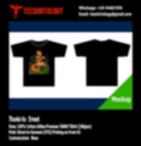 Cute Animal Black Cotton Gildan Premium T-Shirt DTG A3 Printing