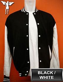 Black/White Varsity Jacket, baseball jacket, college jacket