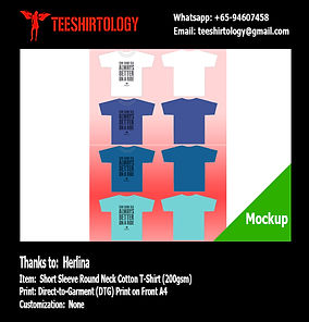 DTG A4 Print of White, Blue, Dark Blue and Turquoise Cotton T-Shirts