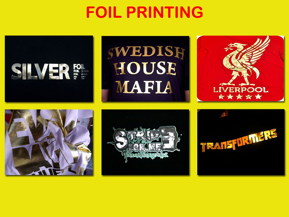 Foil Silkscreen Printing, Sablon Foil, t-shirt printing
