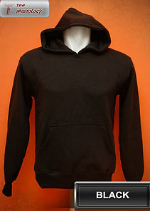 Black Hooded Sweater, sweater hoodie hitam