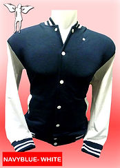 Digital Printing, Silkscreen Printing, Embroidery, Navy Blue White Baseball Jacket, Navy Blue White Fleece Varsity Jacket