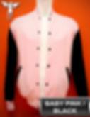 BabyPink/Black Varsity Jacket, baseball jacket, college jacket