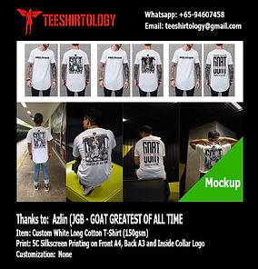 JGB Silkcreen Printed Custom White Long T-Shirt