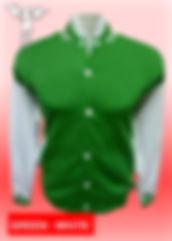 Digital Printing, Silkscreen Printing, Embroidery, Green White Baseball Jacket, Green White Fleece Varsity Jacket
