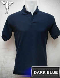 Dark Blue Polo Shirt, kaos polo biru tua