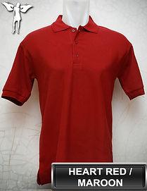 Maroon Polo Shirt, kaos polo maroon, merah hati