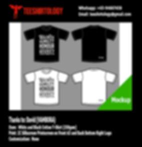 Vambora White and Black Cotton T-Shirt Silkscreen Printing